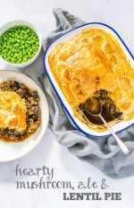 Recipe: Hearty Vegan Mushroom, Ale & Lentil Pie