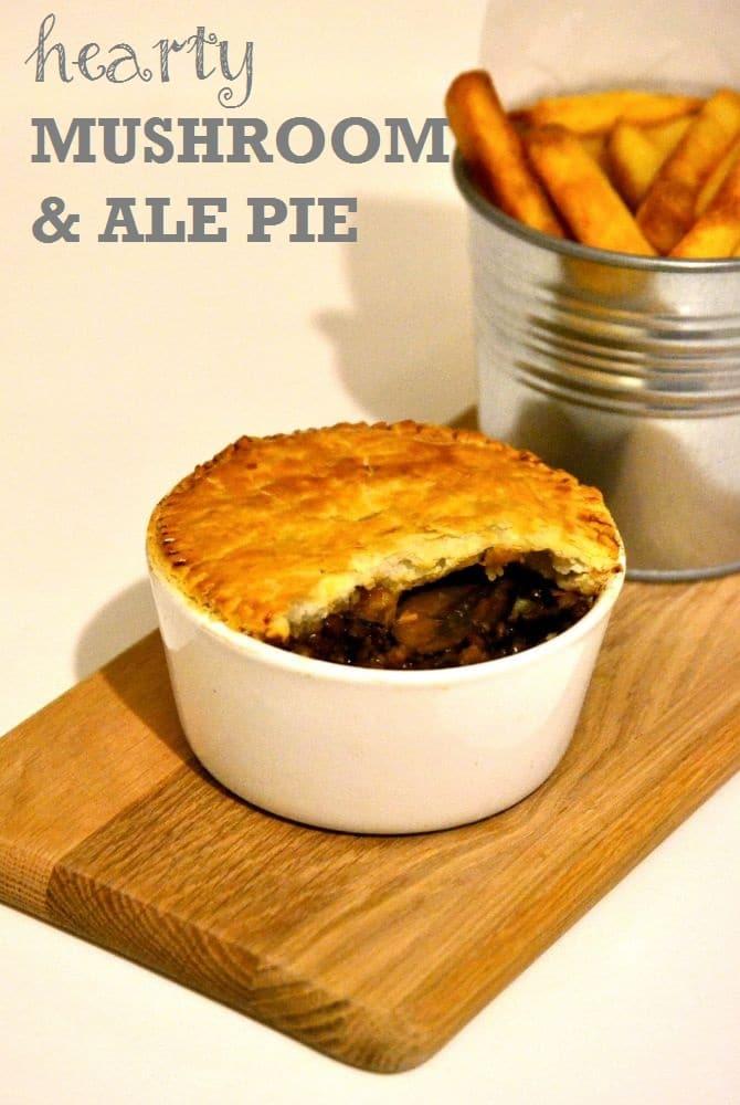 Mushroom Ale & Puy Lentil Pie