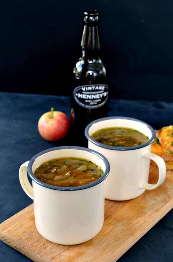 Recipe: Scrumpy Cider & Onion Soup with Welsh Rarebit ...