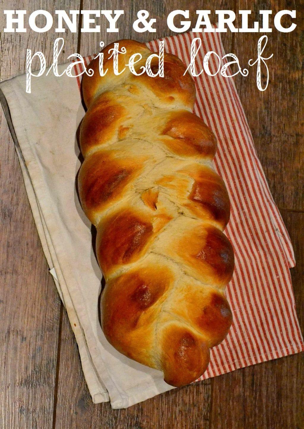 Honey & Garlic Plaited Loaf