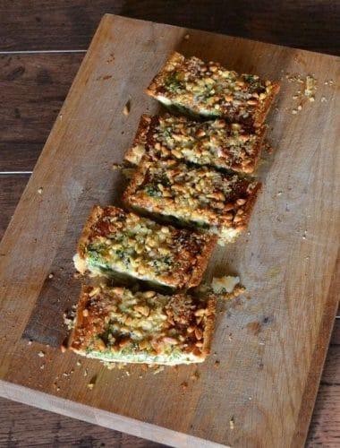 Tenderstem Broccoli & Blue Cheese Tart