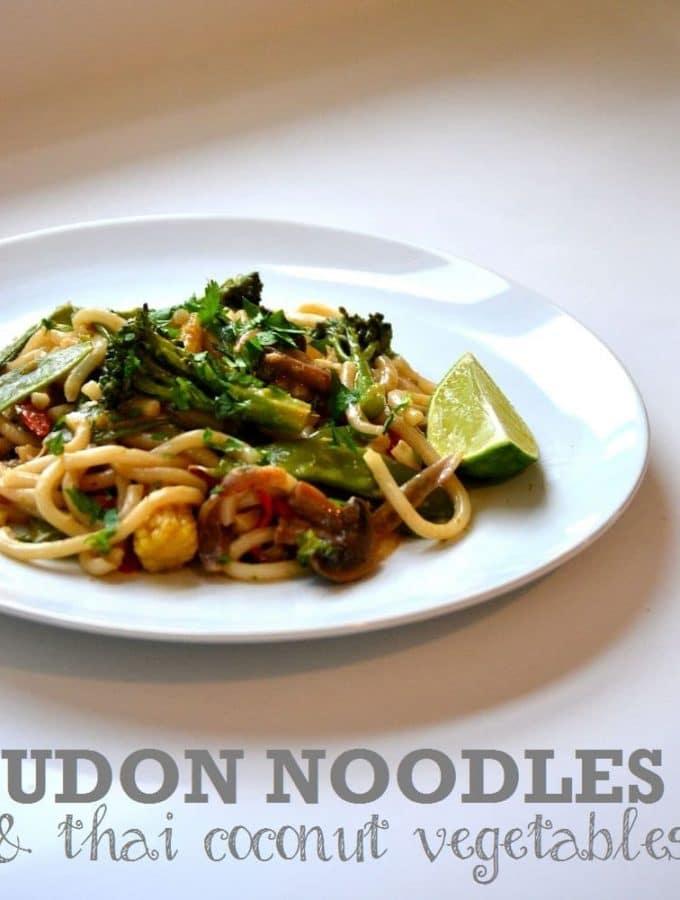 Udon Noodles with Thai Coconut Vegetables