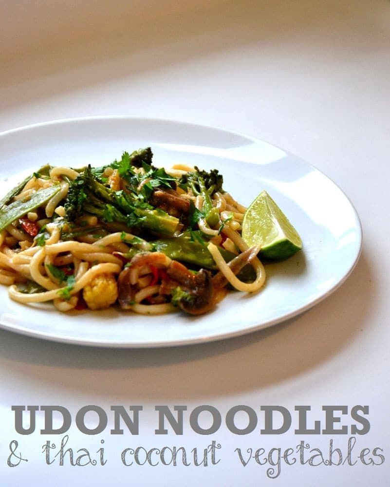 Udon Noodles with Thai Coconut Vegetables