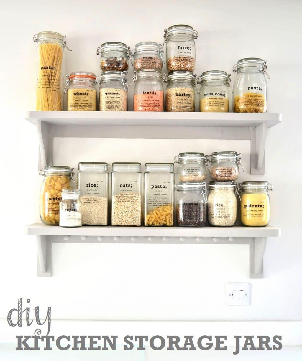 Kitchen Storage Bottles: DIY Kitchen Storage Ideas: Getting Organised In The