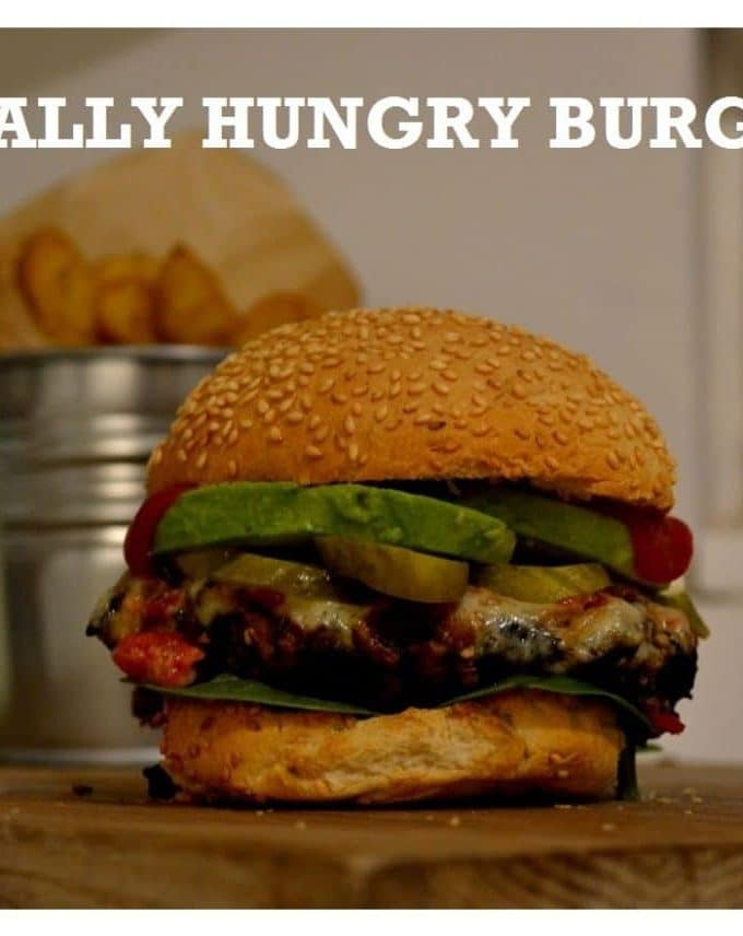 Really Hungry Burger - vegetarian and vegan - www.thevegspace.co.uk