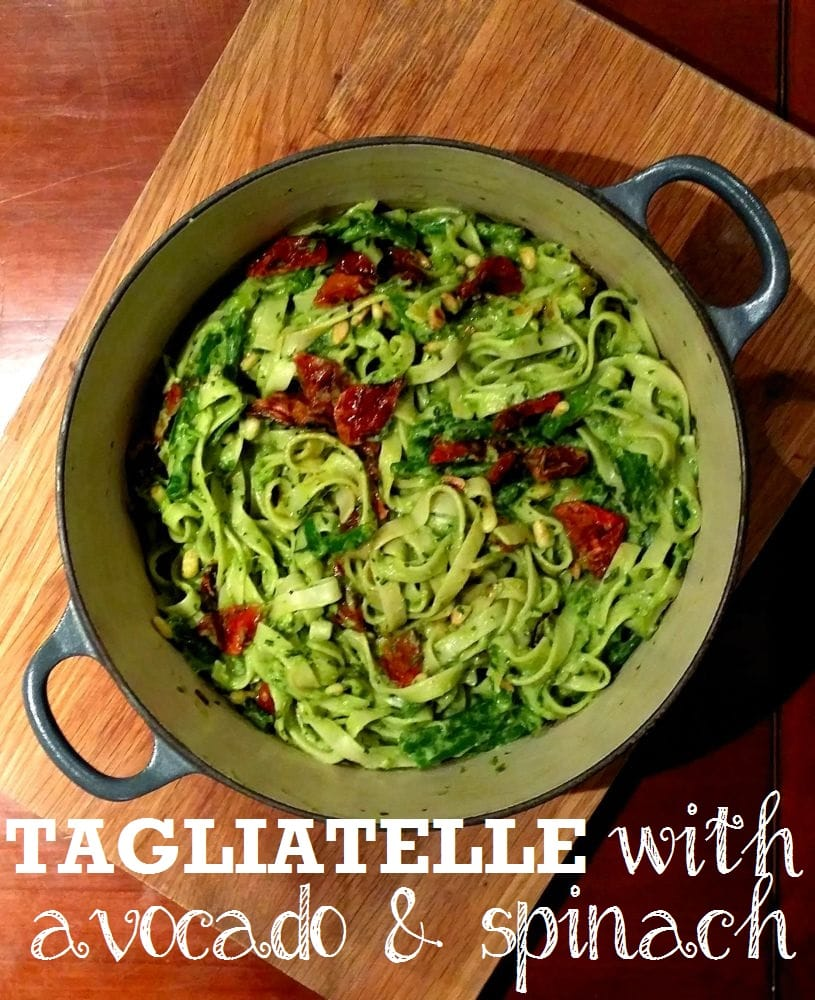 Tagliatelle with Avocado & Spinach Pesto