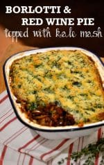 Recipe: Borlotti & Red Wine Pie topped with kale mash