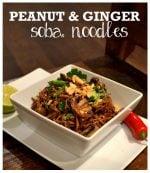 Recipe: Peanut & Ginger Soba Noodles with Chestnut Mushrooms