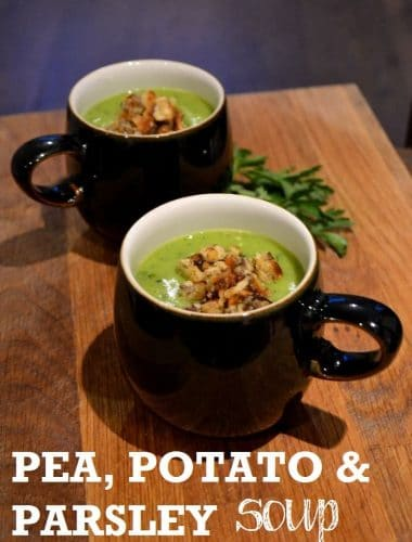 Pea Potato & Parsley Soup