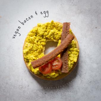 Vegan 'Bacon & Egg' Bagel