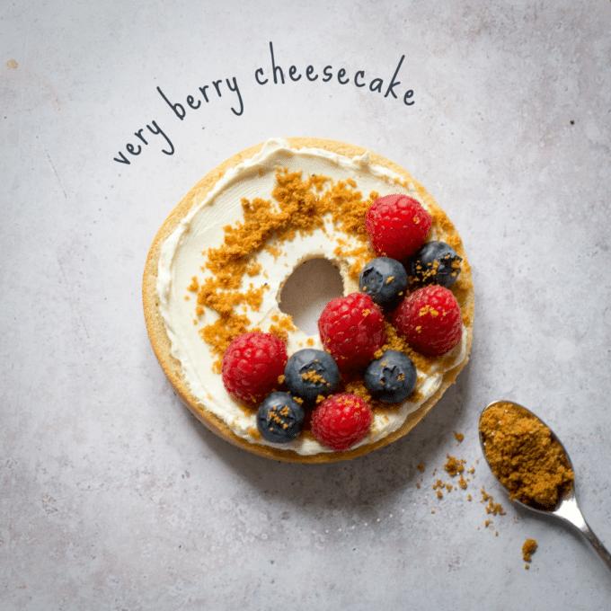 Very Berry Cheesecake Bagel
