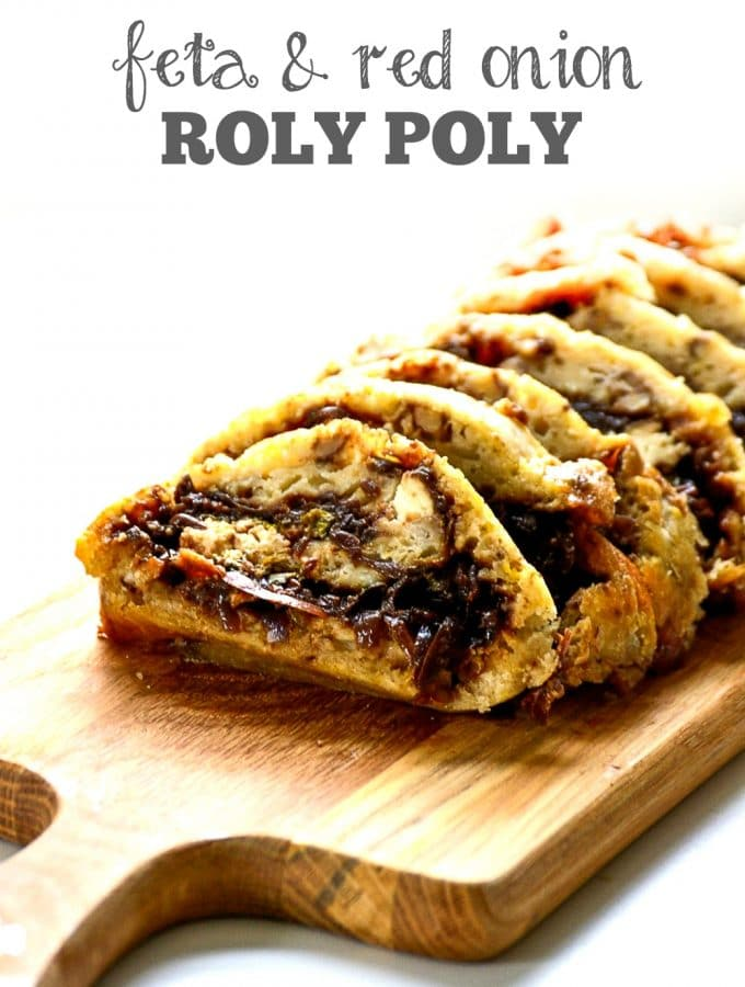 Feta & Red Onion Roly Poly | Vegetarian Sunday Lunch Recipe