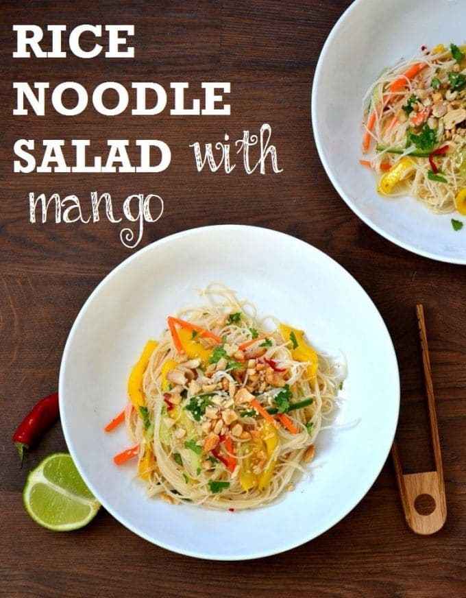 Rice Noodle Salad with Mango