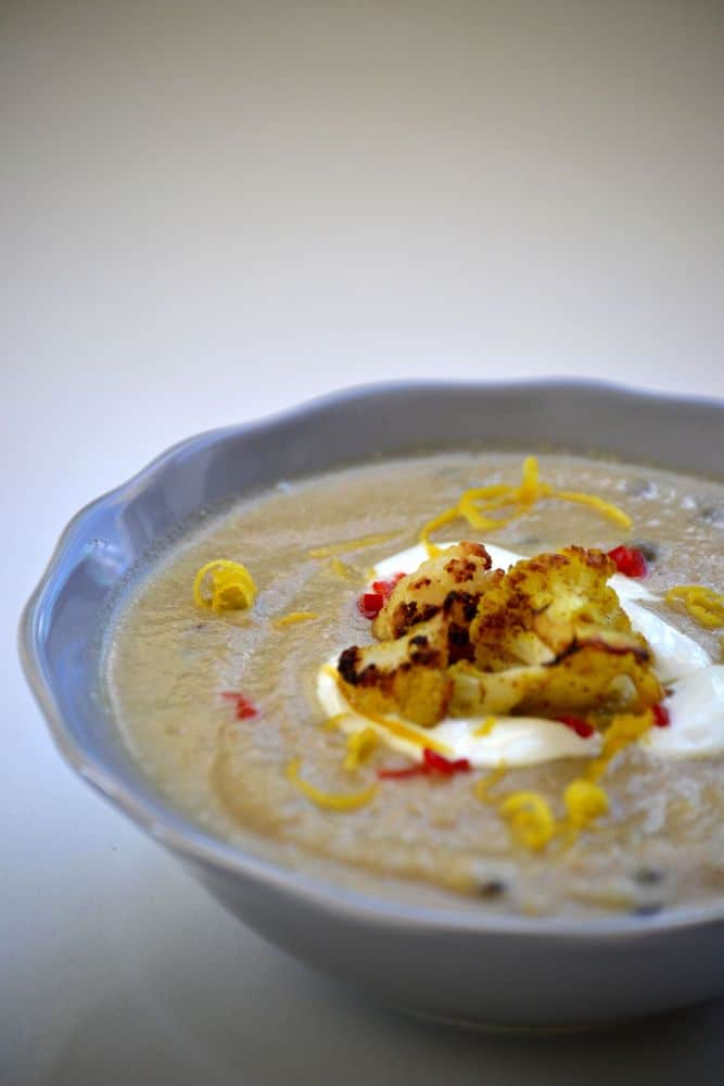 Recipe: Roasted Cauliflower & Cumin Soup with puy lentils ...