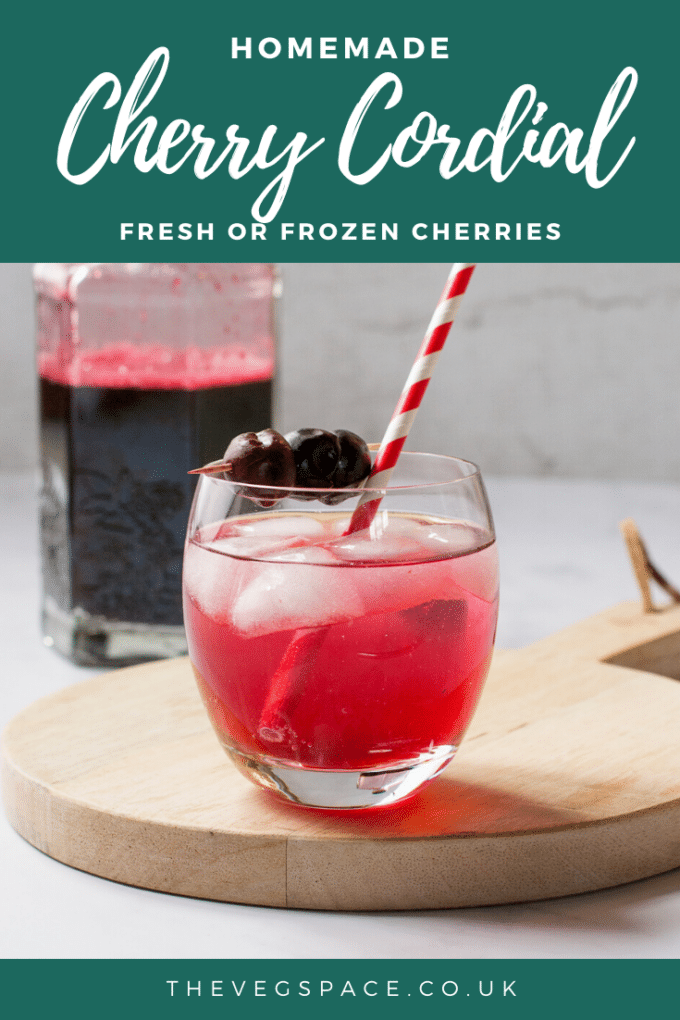 An easy recipe for Cherry Cordial, made from either fresh or frozen cherries