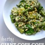 Herby Giant Cous Cous with Asparagus & Lemon