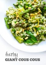 Recipe: Herby Giant Cous Cous with Asparagus and Lemon