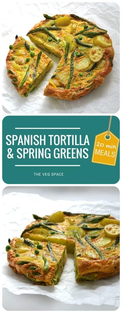 Spanish Tortilla & Spring Greens | The Veg Space