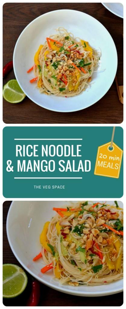 Rice Noodle & Mango Salad   The Veg Space