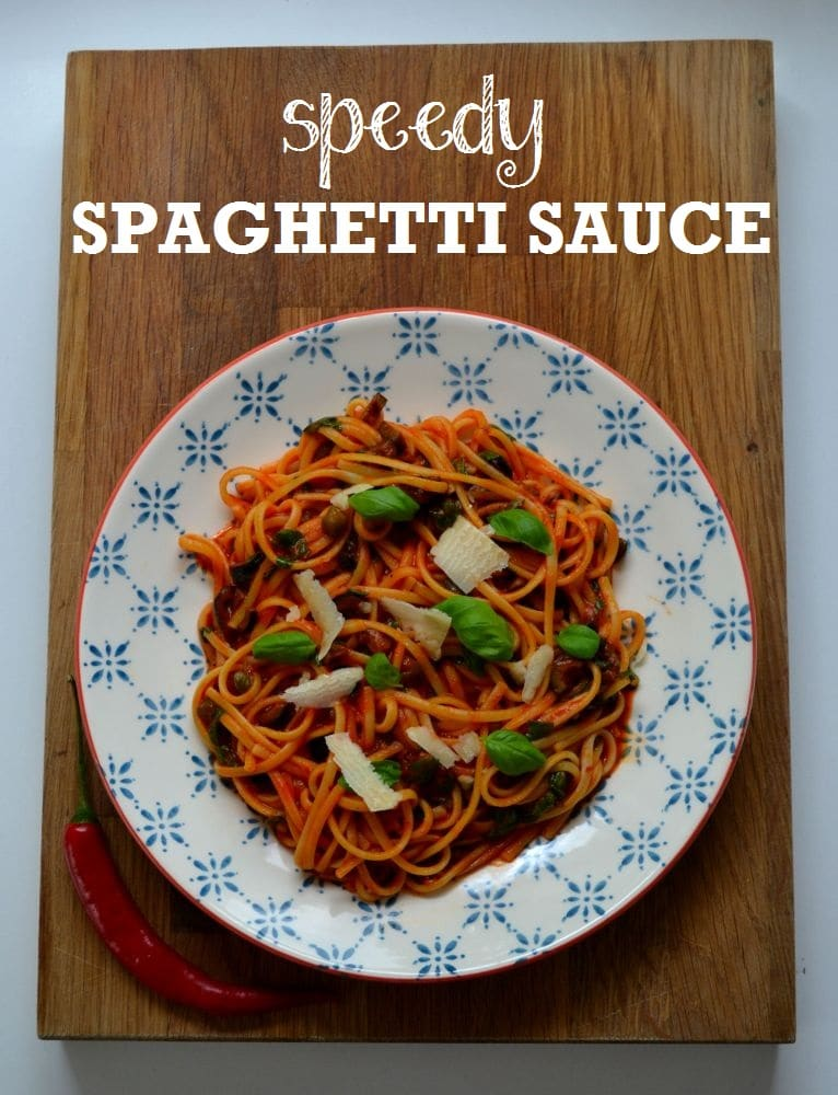 Speedy & Spicy Spaghetti Sauce