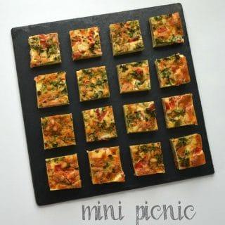 Mini Picnic Quiche Bites