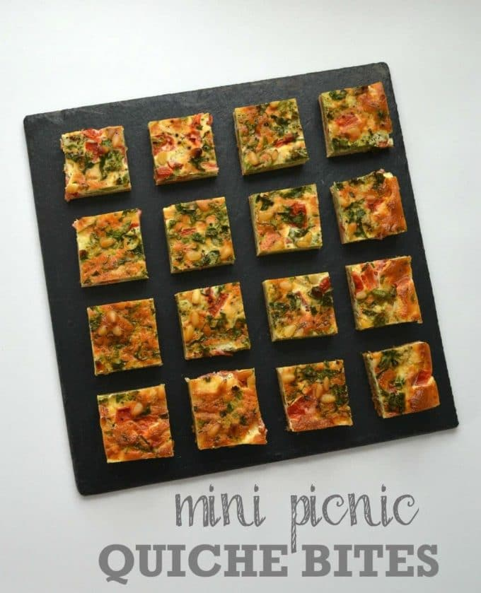 Mini Picnic Quiche Bites