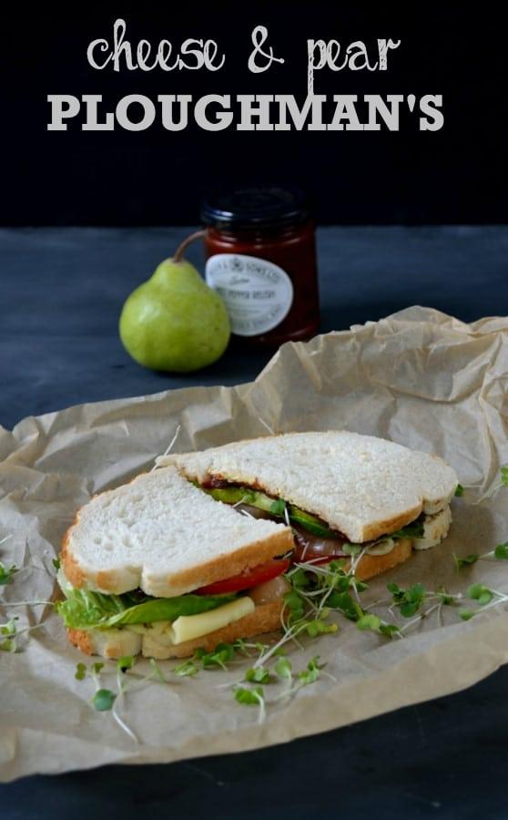 Cheese & Pear Ploughman's | The Veg Space