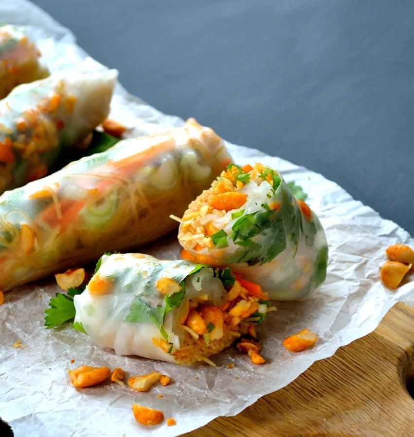 Chilli Peanut Vietnamese Rolls