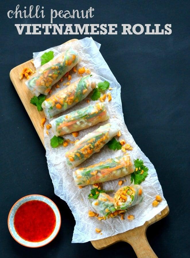 Recipe: Chilli Peanut Vietnamese Rolls - The Veg Space