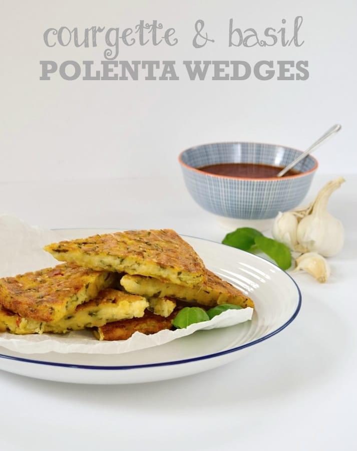 Courgette & Basil Polenta Wedges