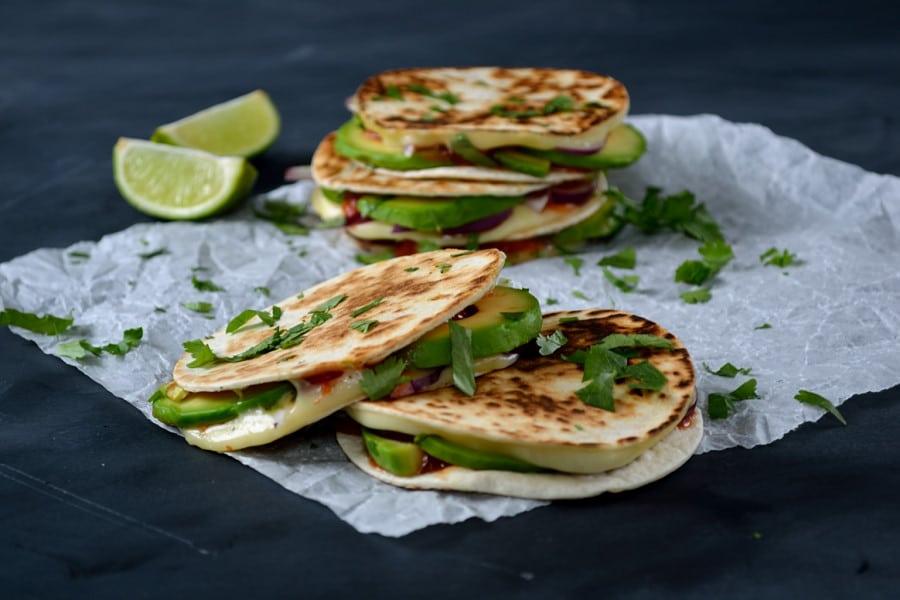 Melting Mexican Mini-Quesadillas   The Veg Spacea