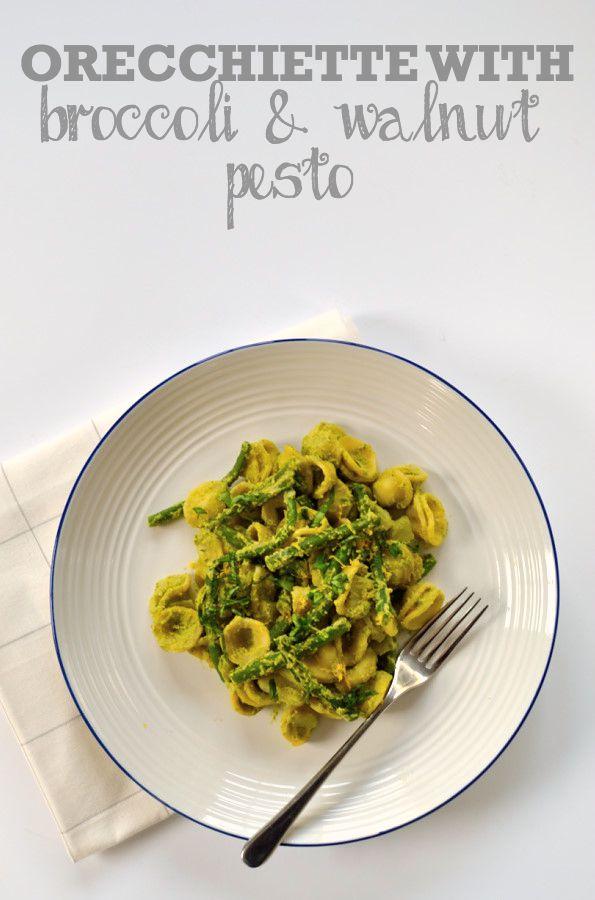 Orecchiette with Broccoli & Walnut Pesto