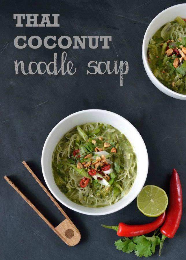Thai Coconut Noodle Soup   The Veg Space