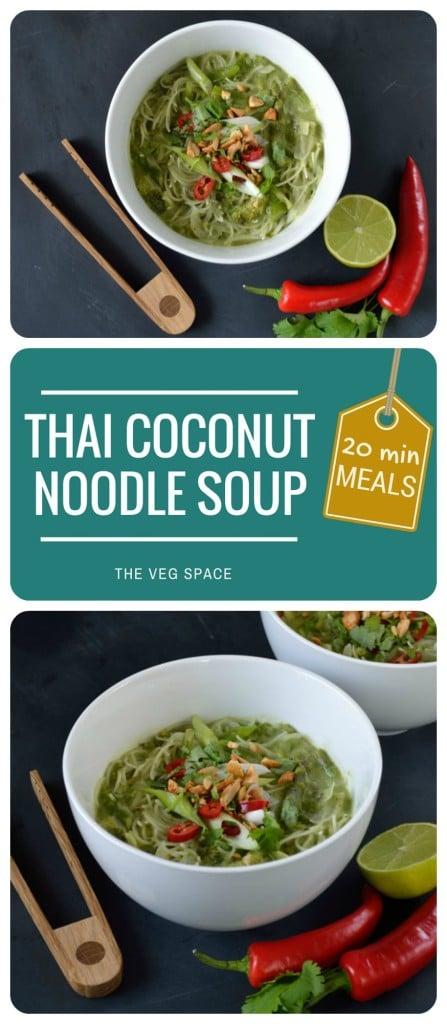 Thai Coconut Noodle Soup | The Veg Space