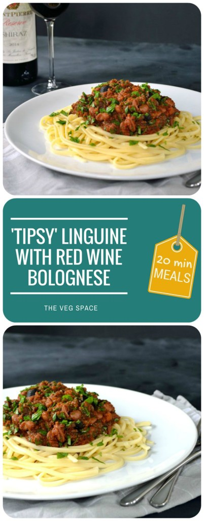 'Tipsy' Linguine with Red Wine & Pinto Bolognese | The Veg Space