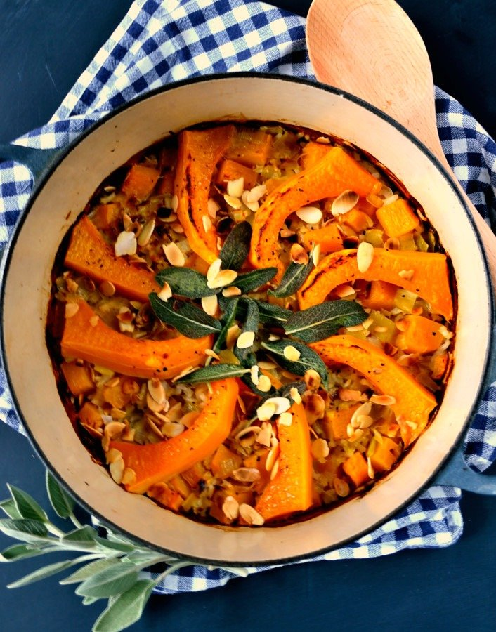 Baked Pumpkin & Leek Risotto 2
