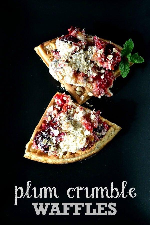 Plum Crumble Waffles | The Veg Space