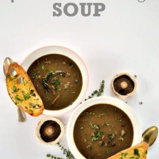 Porcini & Sherry Soup | The Veg Space
