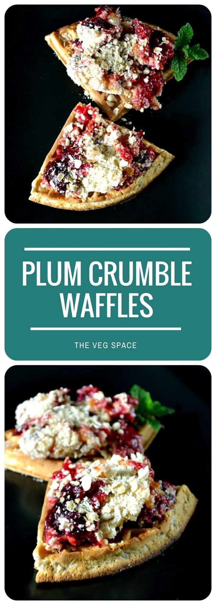 Plum Crumble Waffles