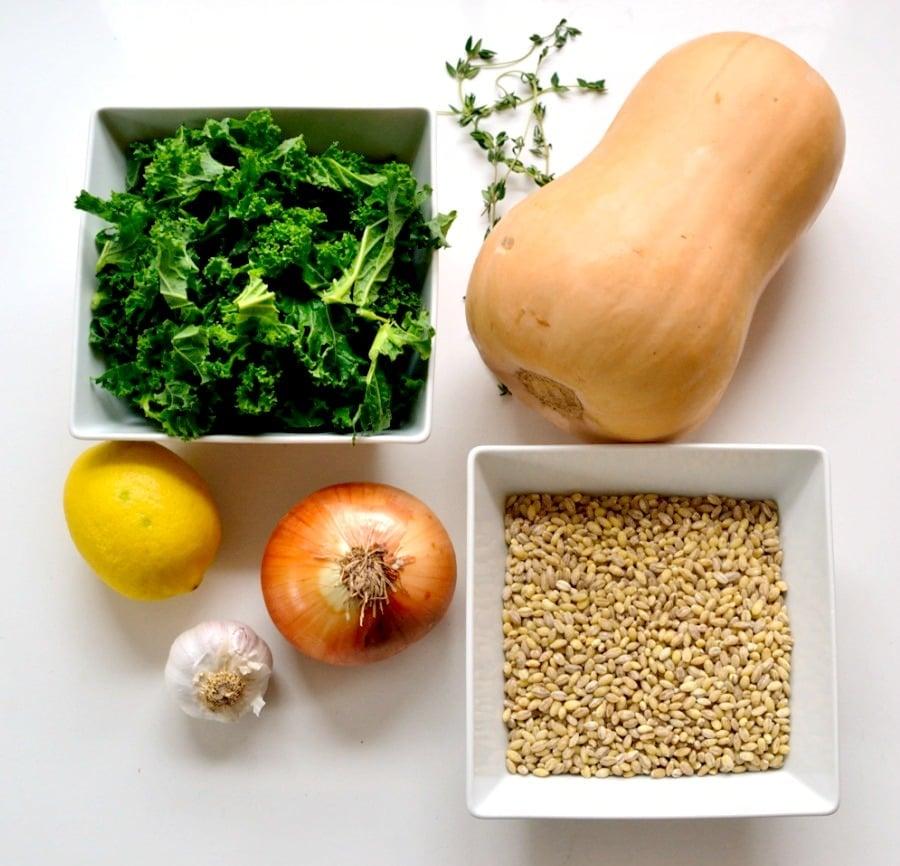 Kale & Squash Pearl Barley Risotto