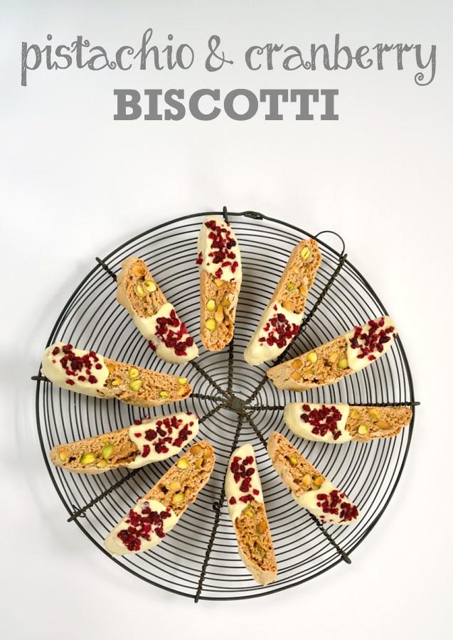 Pistachio & Cranberry Biscotti