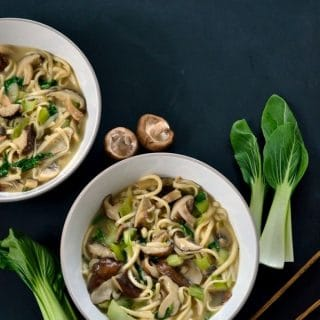 Shiitake Miso Noodle Bowl