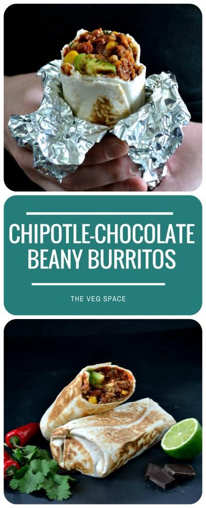 Chipotle Chocolate Beany Burritos