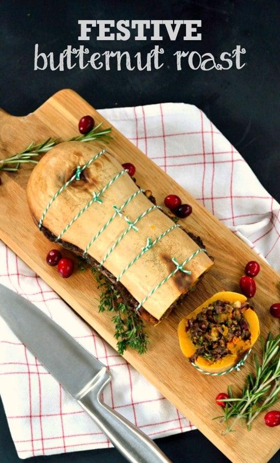 Christmas Roast.Festive Butternut Roast
