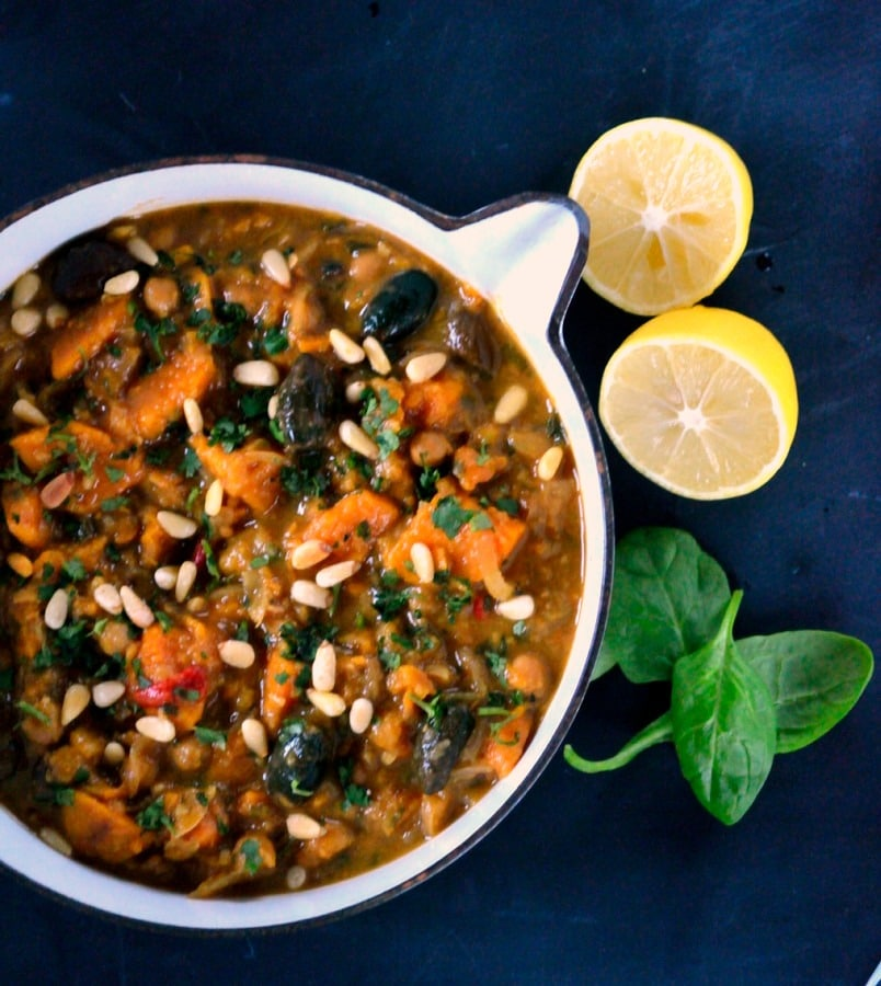 Lemony Sweet Potato Vegetarian Tagine 2