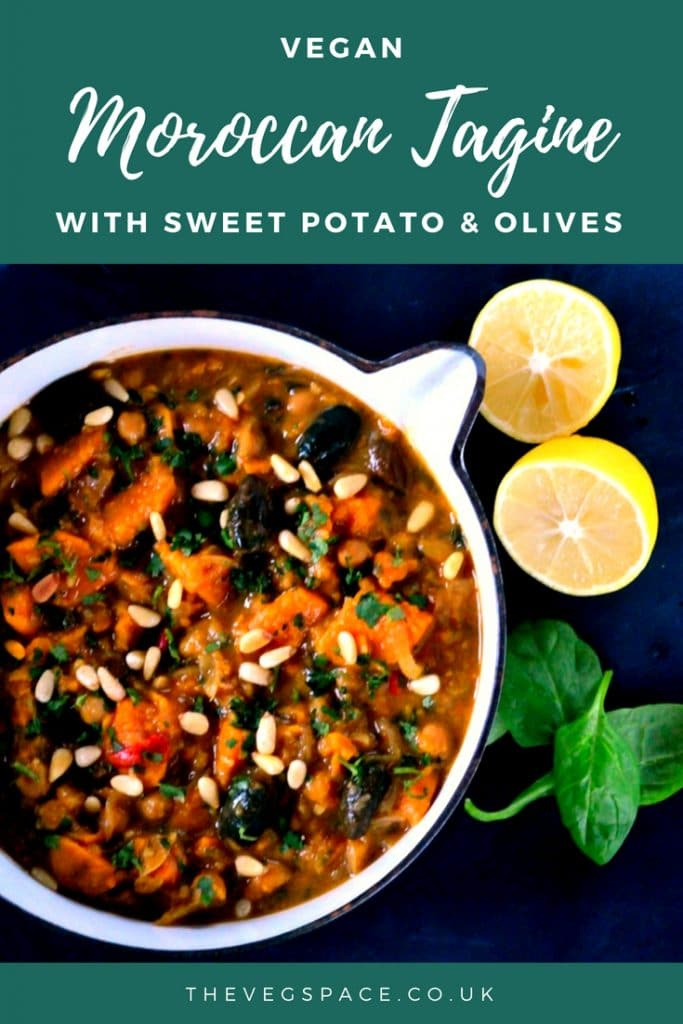 Lemony Vegan Tagine with Sweet Potato & Olives #vegan #plantbased | www.thevegspace.co.uk