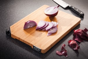 Stellar Kitchen Bamboo Chopping Board with sharpener - Lifestyle (5)