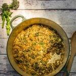 Recipe: Purple Sprouting Broccoli Baked Farro Risotto