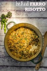 Recipe: Purple Sprouting Broccoli Baked Farro Risotto