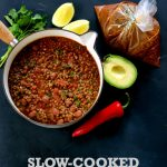 Recipe: Slow-Cooked Borlotti Bean Chilli (A Veganuary Recipe – Batch Cooking for the Freezer)